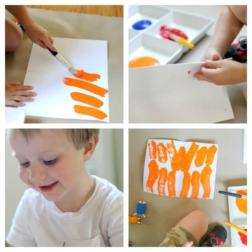 Art Projects For Kids: Paint Blot Project for Preschoolers