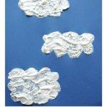Easy Art Projects: Puffy Cloud Paintings