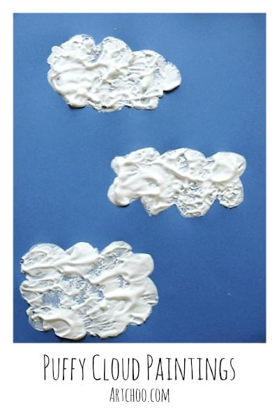 Easy Art Projects: Puffy Cloud Paintings • Artchoo.com