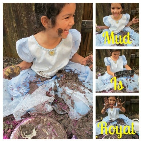 princess mud party - messy kids activities roundup at Artchoo.com