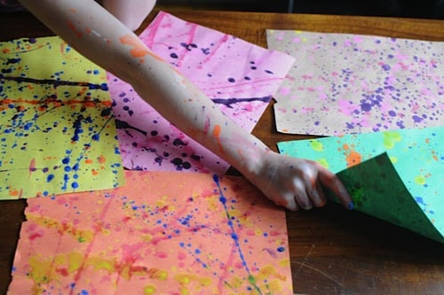 splatter painting - messy projects roundup on Artchoo.com