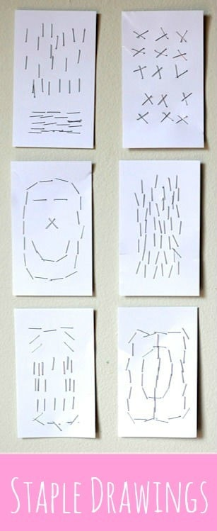 Staple art project for kids from http:/tinyrottenpeanuts.com