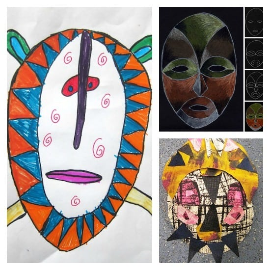 African mask projects- lots of African art projects