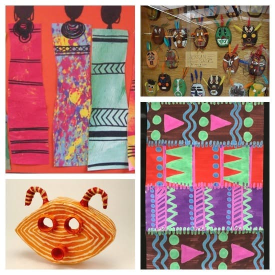 Lots of African Art Project ideas for kids