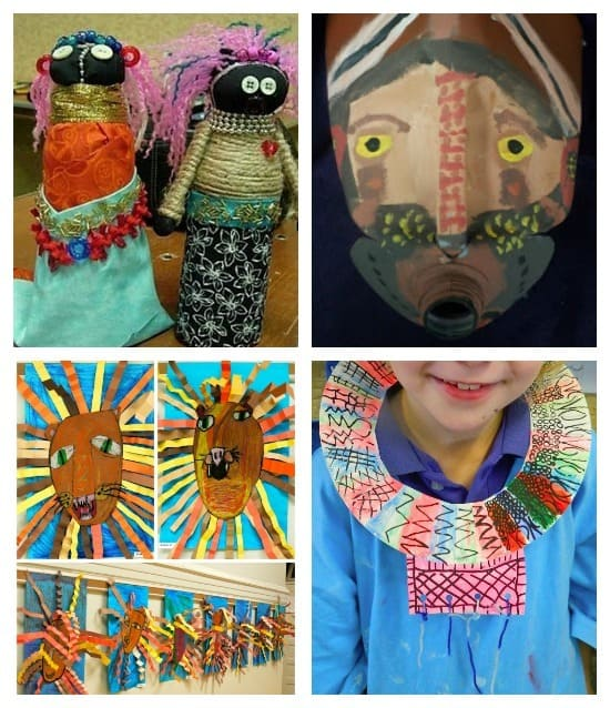 Lots of African Art Projects for kids!