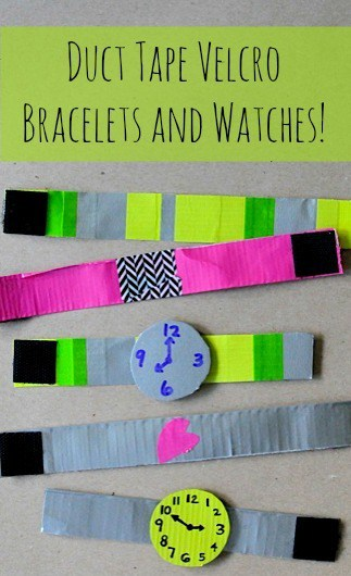 duct tape bracelets and watches • Artchoo.com