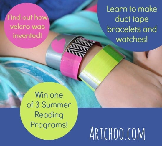 duct tape bracelets and a giveaway from Artchoo.com