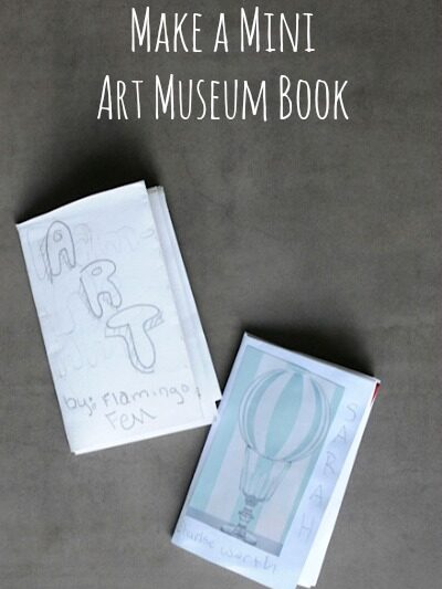 How to make a mini art museum book • Artchoo.com
