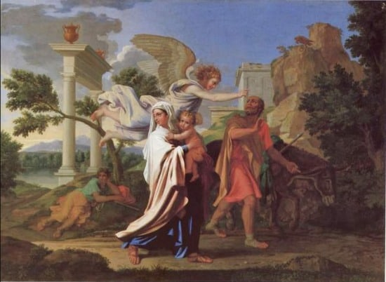 Poussin's The Flight Into Egypt - studied in the DVD Hidden Lives of Masterpieces