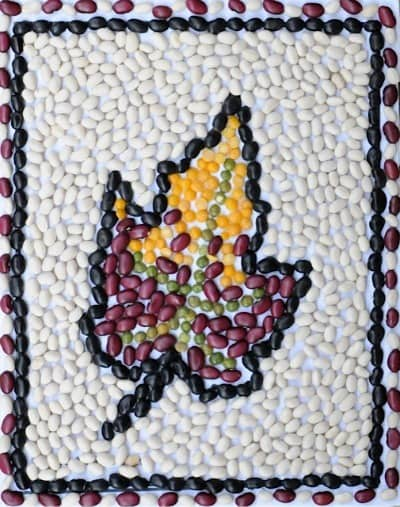 mosaic arts and crafts ideas bean mosaic fall leaf project craftwhack 6929