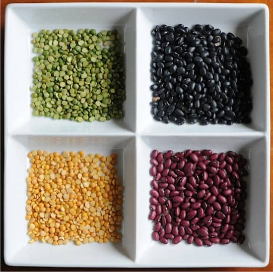 make a bean mosaic