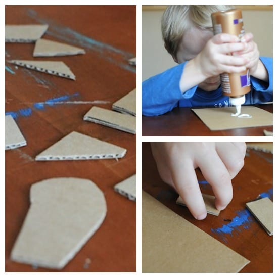 Easy art projects for kids: cardboard printmaking from Artchoo.com