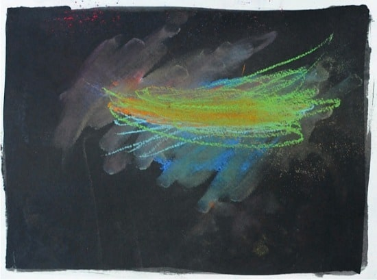 A week of easy art projects for kids from Artchoo.com. This one is chalk pastel on ink.