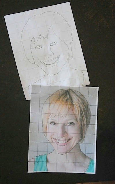 Grid drawing with kids- it's so fun to see how excited they get with their results • Artchoo.com