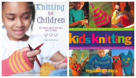 Kids knitting books