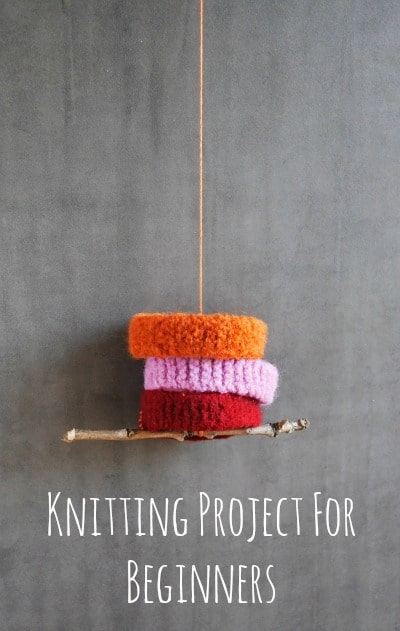 Perfect knitting project for beginners (and kids)