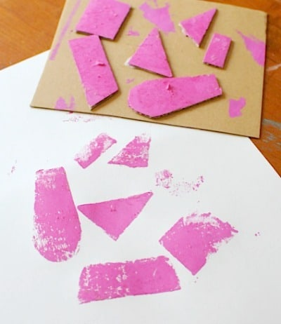 printmaking with cardboard! Artchoo.com