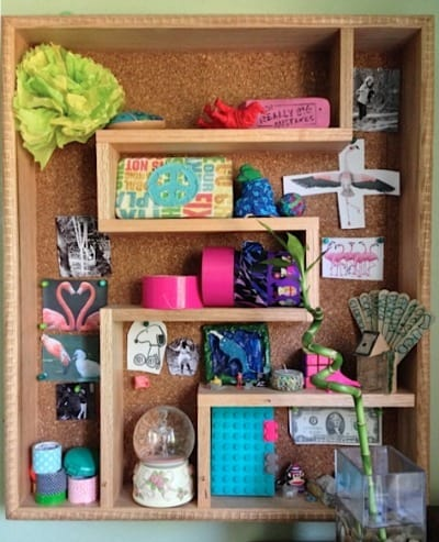 Shadow box/bulletin board #kidrooms • Come share your pics of your kids' rooms!