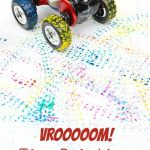 Toy Car Tire Painting