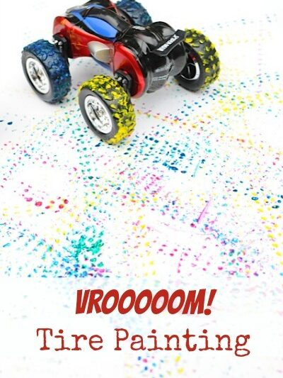 toy car tire painting • Artchoo.com