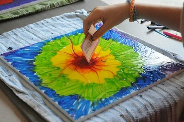 Lets Make a Crayon Painting Crayon Art Projects Craftwhack