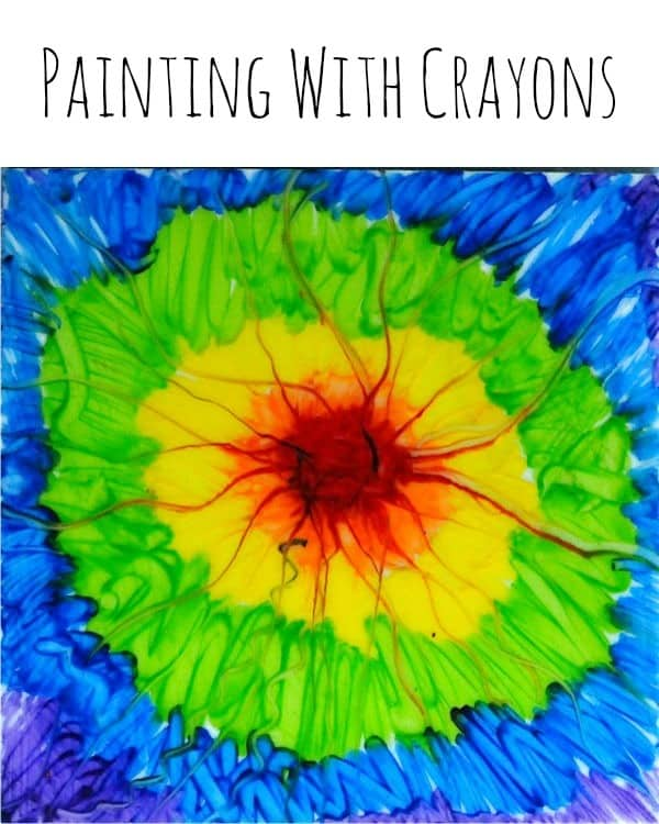 let s make a crayon painting crayon art projects craftwhack