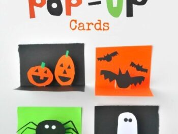 DIY Halloween Pop-Up Cards • Artchoo.com