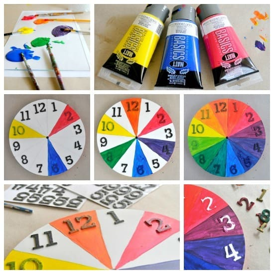 Painting a color wheel clock • Artchoo.com