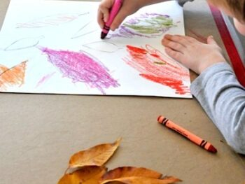 fall leaf art project • Artchoo.com