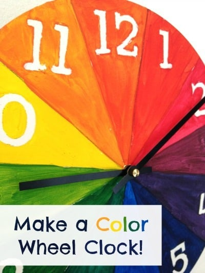 DIY color wheel clock project from Artchoo.com