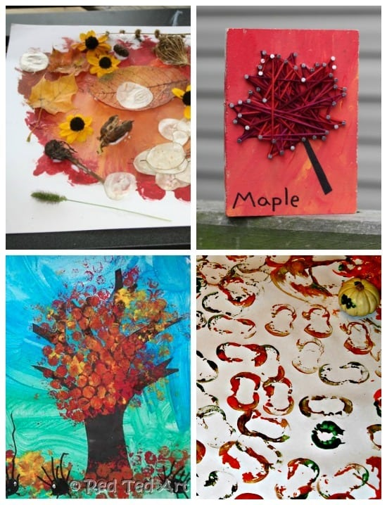 24 Fall ARt projects for kids • Artchoo.com