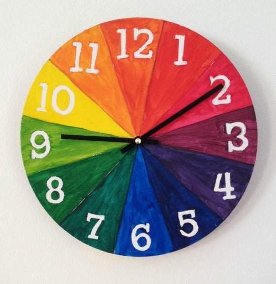 DIY Color Wheel Clock From Artchoo