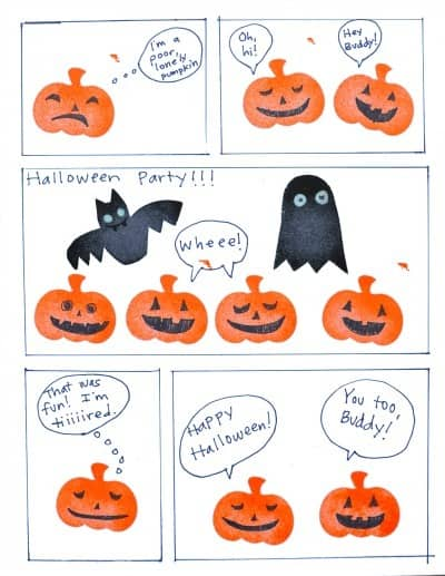 Halloween stamps comic project • Artchoo.com