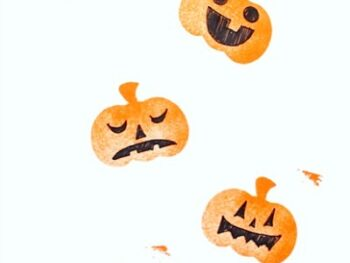 Experiment with jack o lantern stamp faces • Artchoo.com