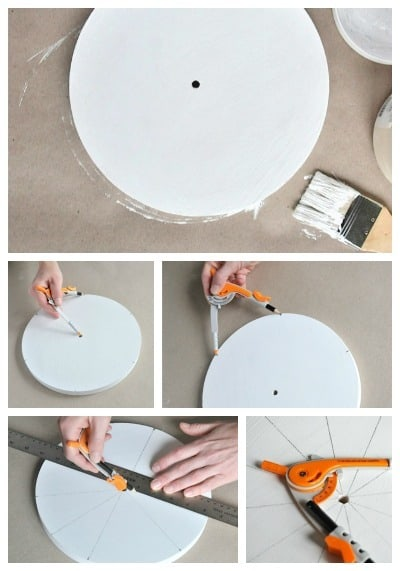 measuring a clock face for a DIY clock • Artchoo.com