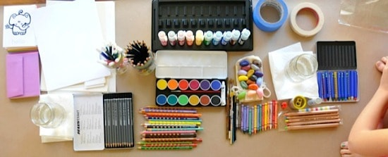 Eco-friendly art supplies! From Stubby Pencil Studios - throw an art party • Artchoo.com