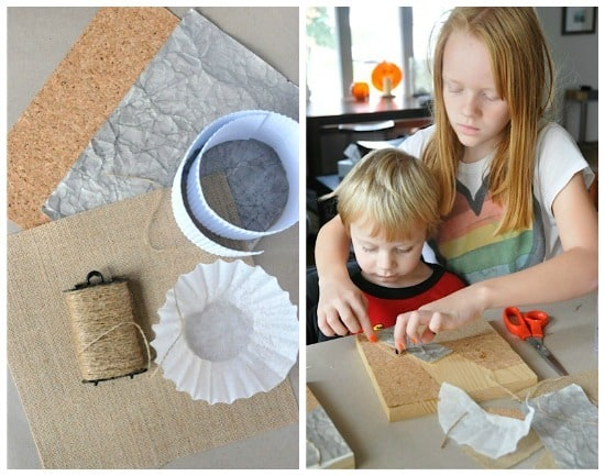 Making texture collages with kids is easy and really fun • Artchoo.com
