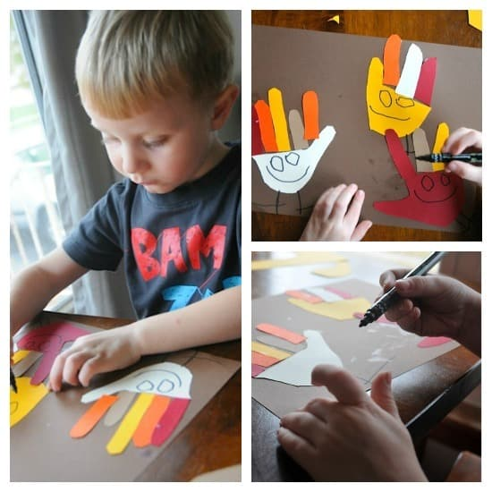 Crazy Mixed Up Hand Turkeys • Artchoo.com
