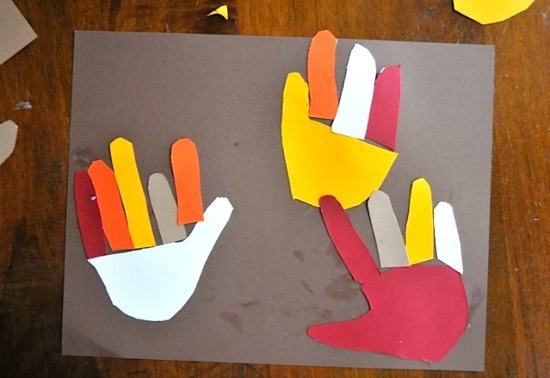 hand turkey craft