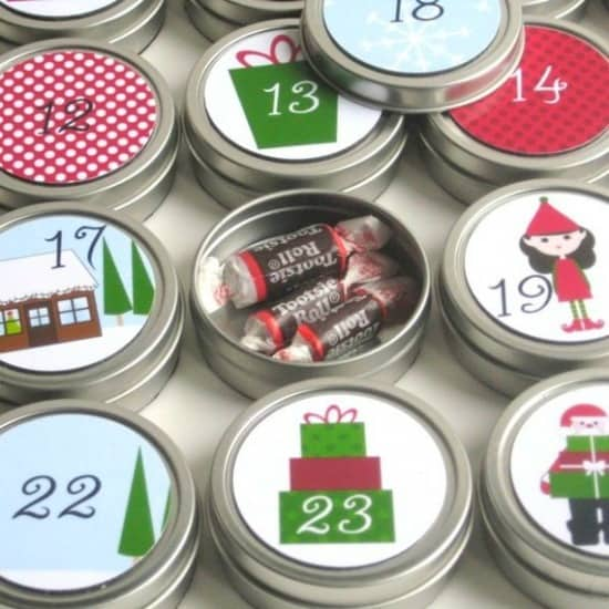 tin advent calendar