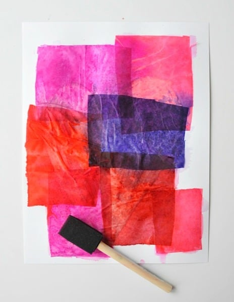 art tissue project from Artchoo.com