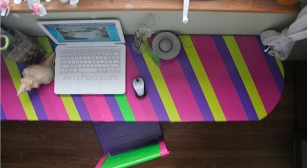 Cool duct tape ideas cover your furniture craftwhack for Duct tape bedroom ideas