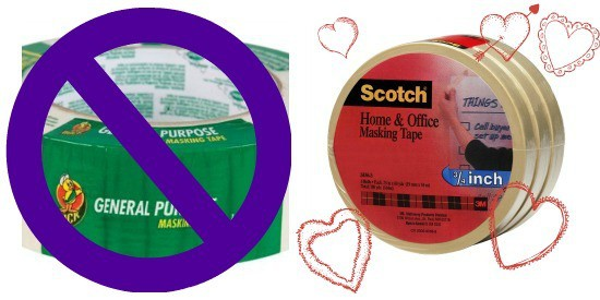 compare masking tapes