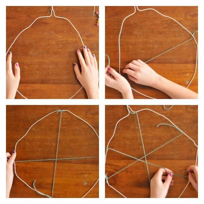 coat hanger weaving • Artchoo.com