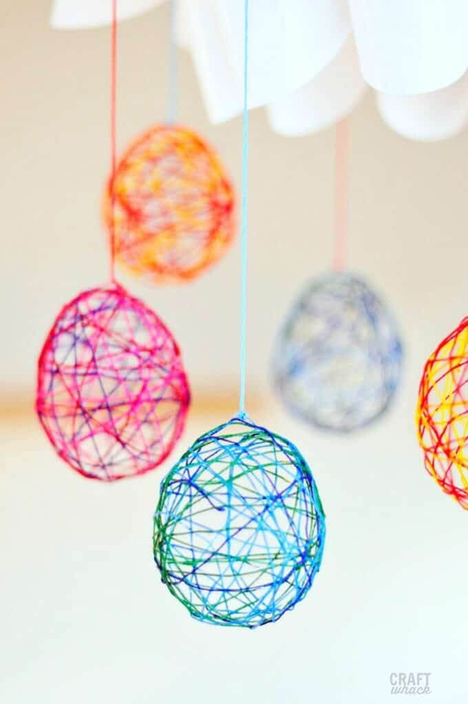 string easter egg craft
