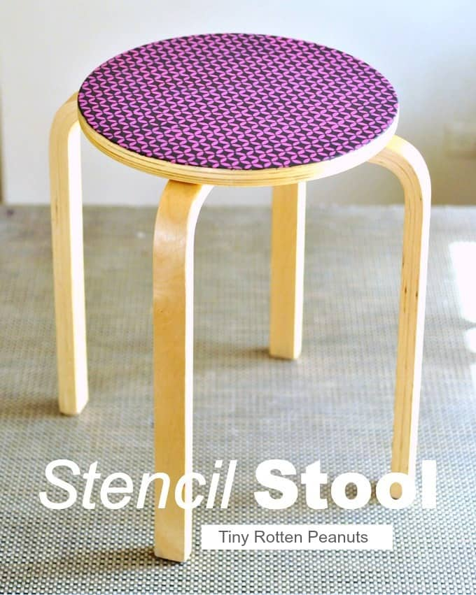 Stencil stool project from Tiny Rotten Peanuts