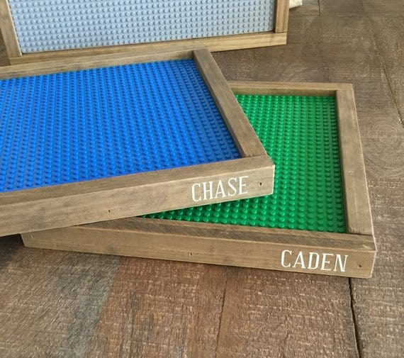 Personalized Lego trays