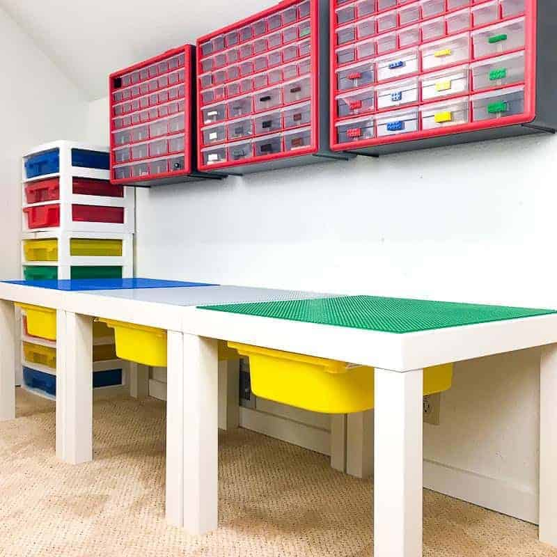 diy lego table and storage