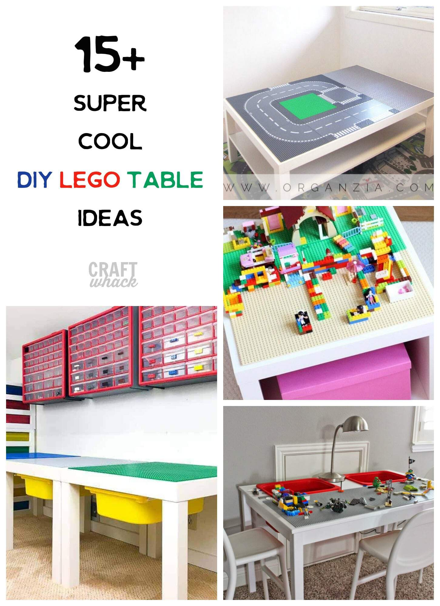 Creative DIY Lego tables