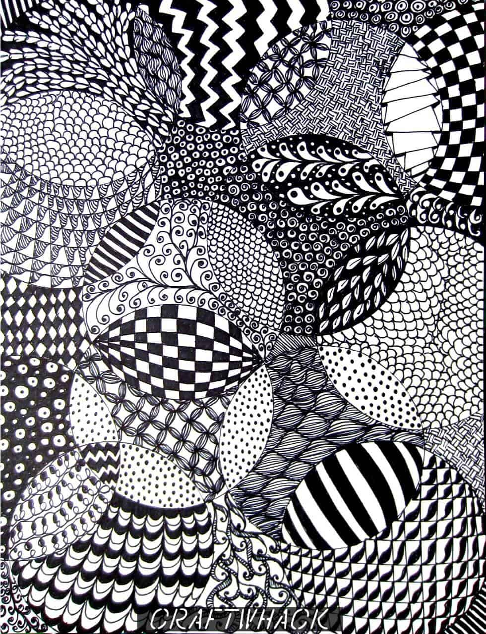 Zentangle Patterns Totally Easy Zentangle...